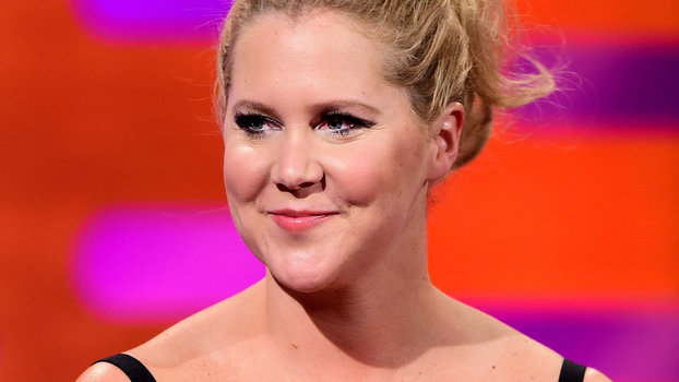 amy schumer poses nude with dog