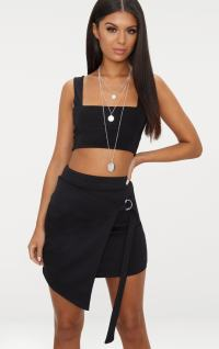Black Scuba D Ring Wrap Skirt. Shop The Range Of Skirts ...