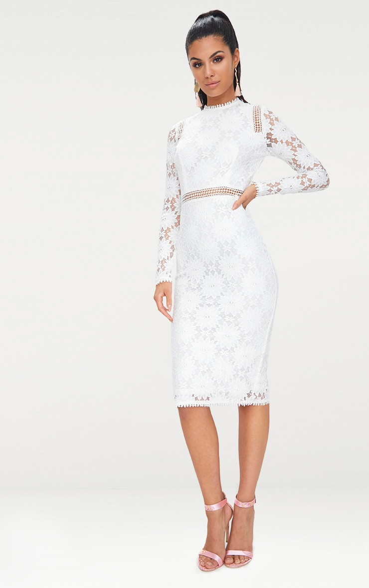 White Lace Dress Sleeves