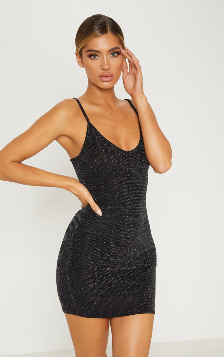 black sheer strappy textured
