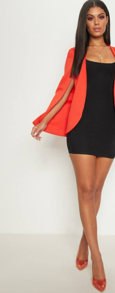Orange Cape Blazer