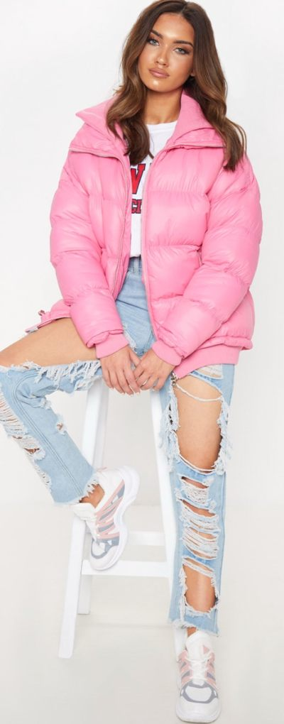 Pink Oversized Puffer