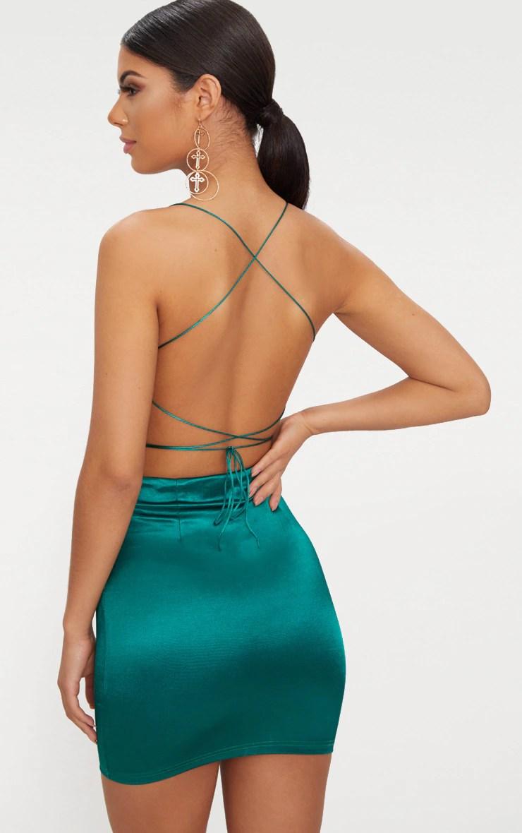 emerald green high neck