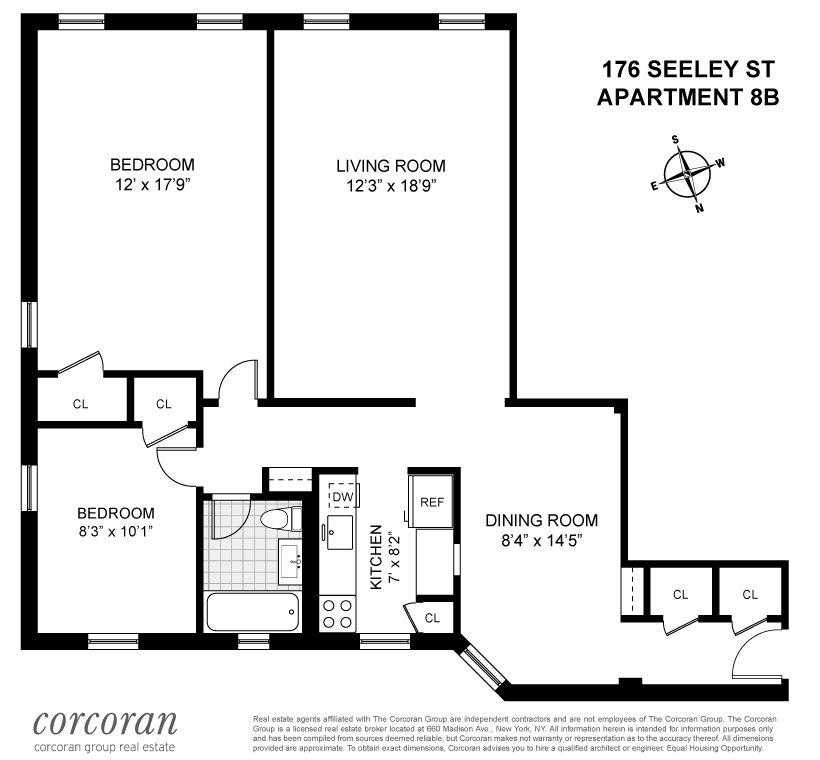 StreetEasy: 166 Seeley Street in Windsor Terrace, #8B