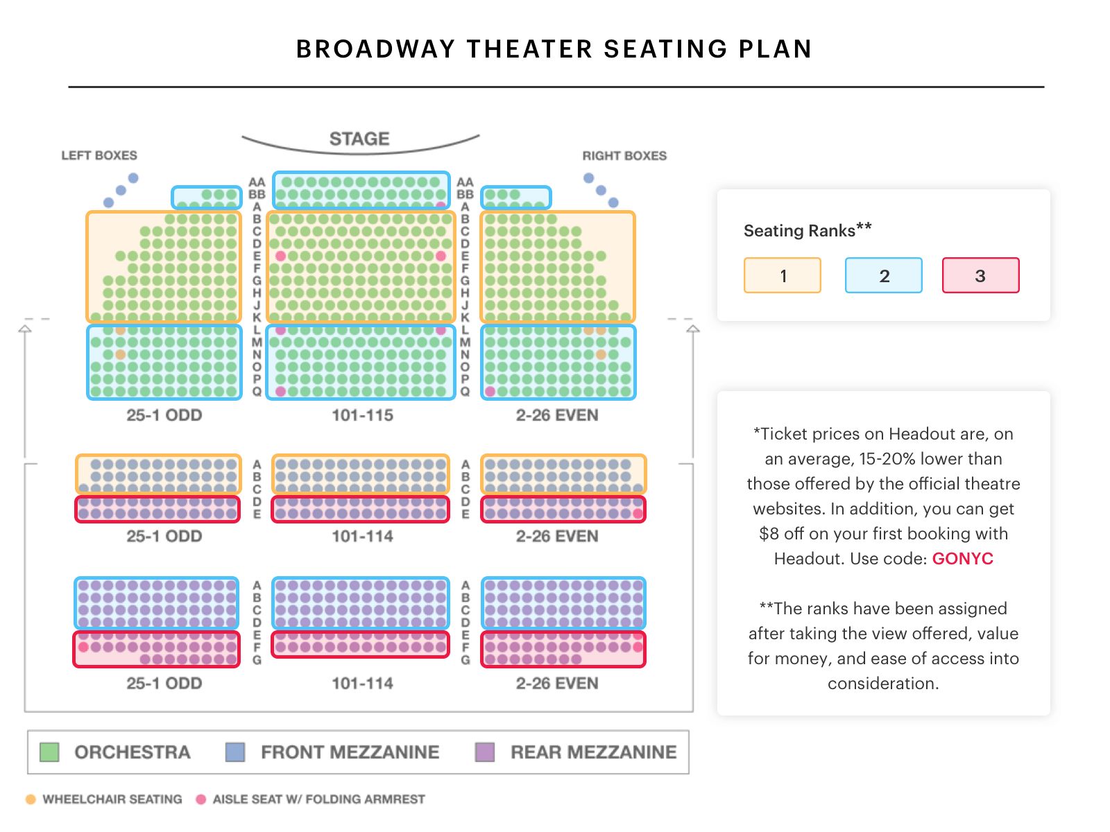 broadway theatre seating chart watch king kong on broadway car seat seat belt diagram broadway theatre [ 1600 x 1200 Pixel ]