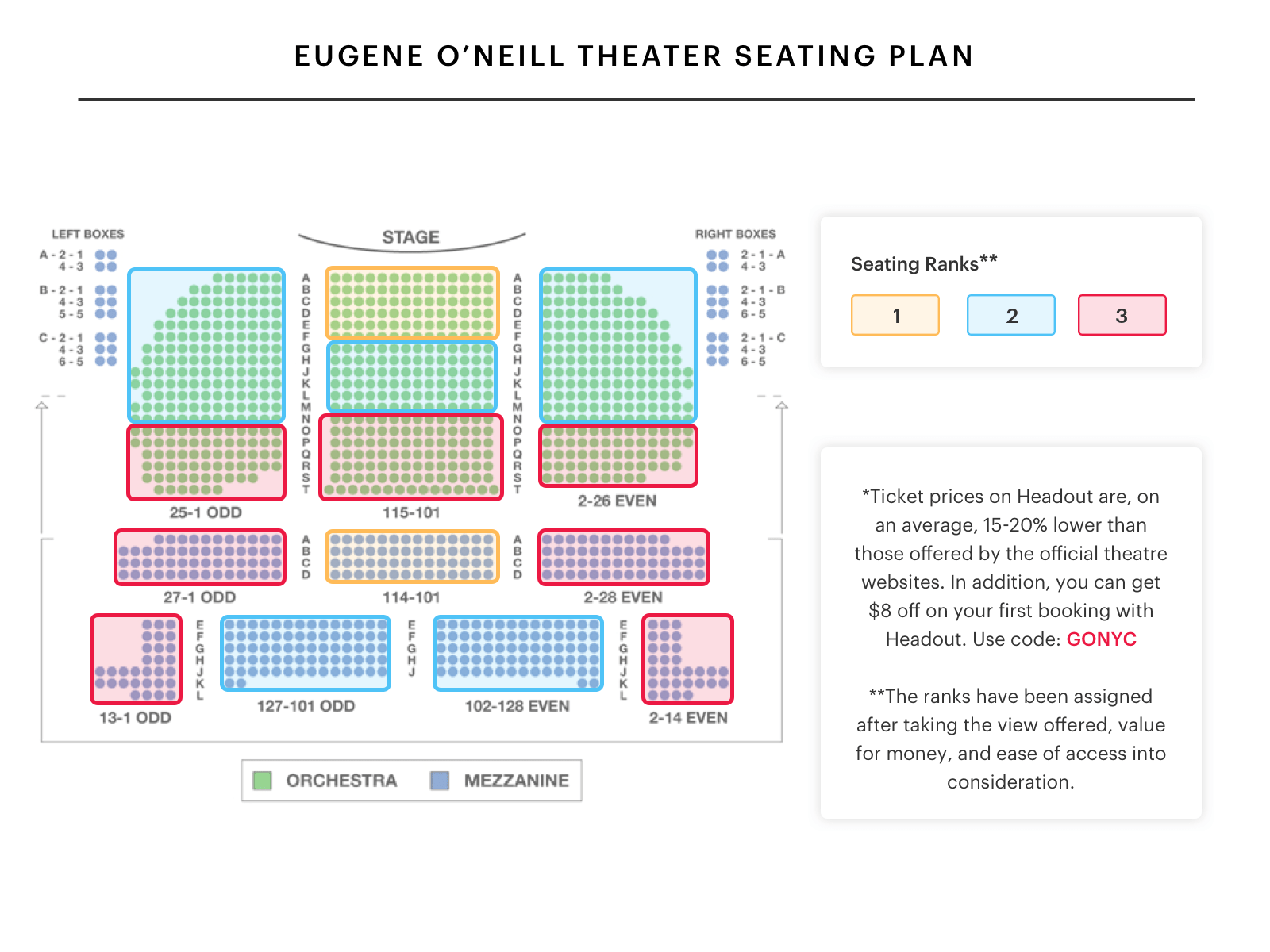 Map gershwin theater also your  to  guide broadway seating charts rh blog headout