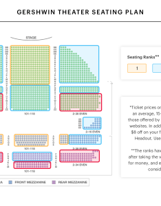 Gershwin theater seating chart also wicked guide rh blog headout