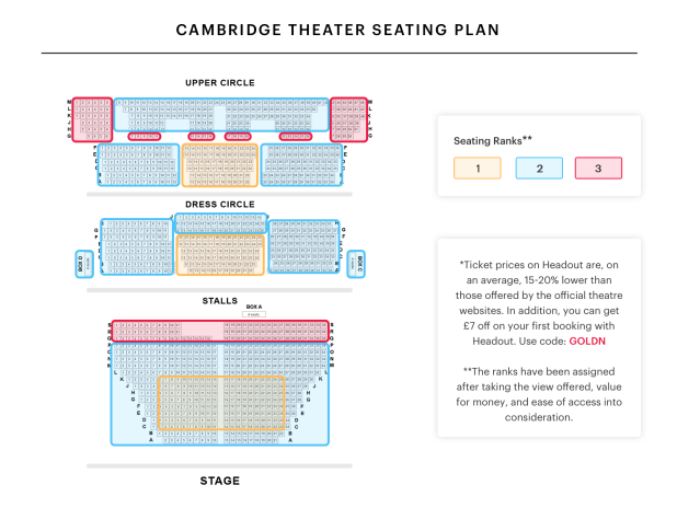 Cambridge Theatre Seating Plan Reviews Brokeasshome Com