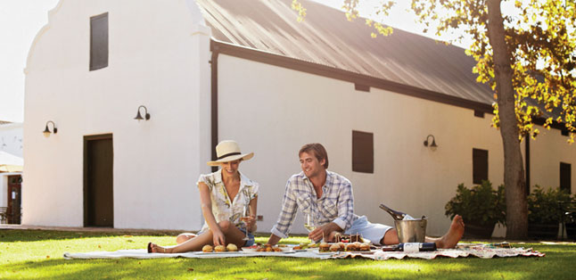 A Garden Route Road Trip - lunch on the Spier lawns