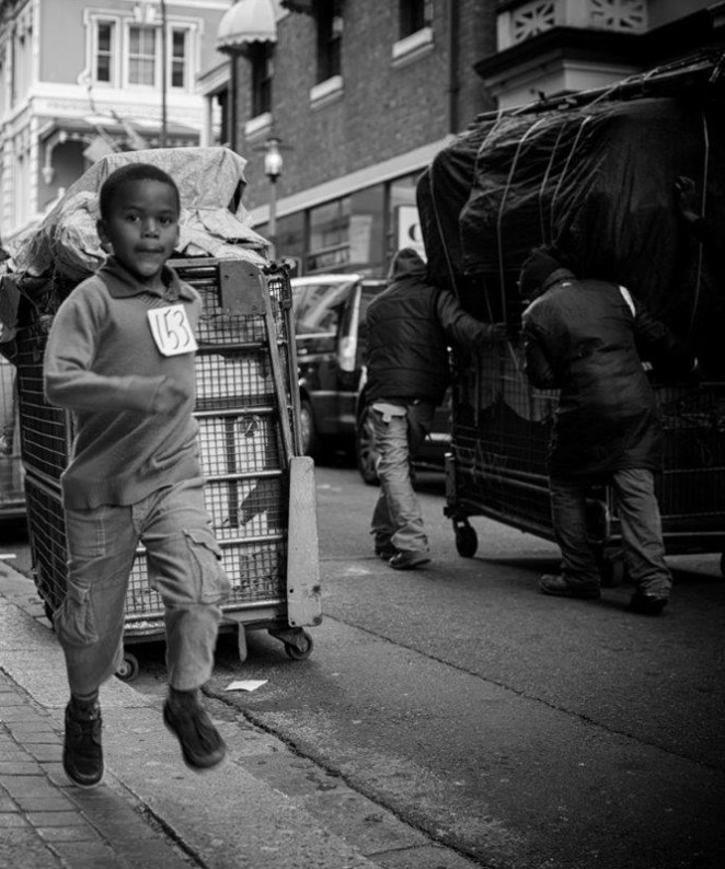 Cape Town's Iconic Long Street - running boy
