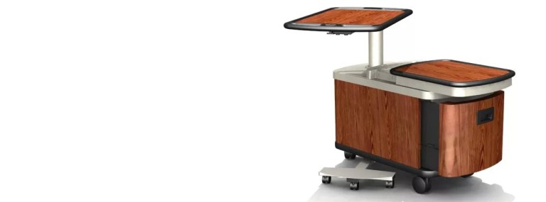 Wellness mobile over-bed table.