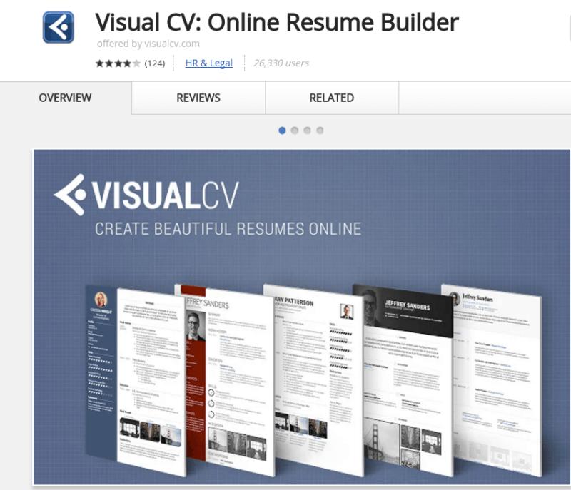 visual cv google docs