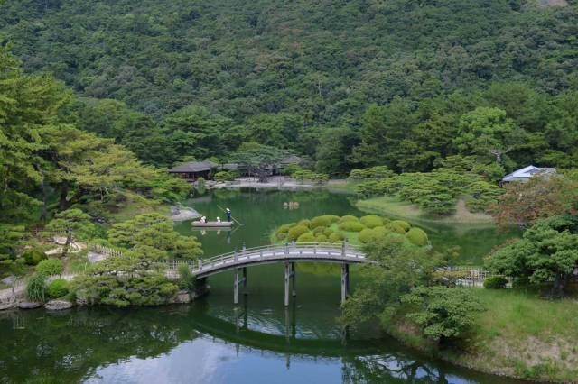 Nature and formal landscaping in perfect harmony at Ritsurin Garden in Takamatsu.   STEPHEN MANSFIELD