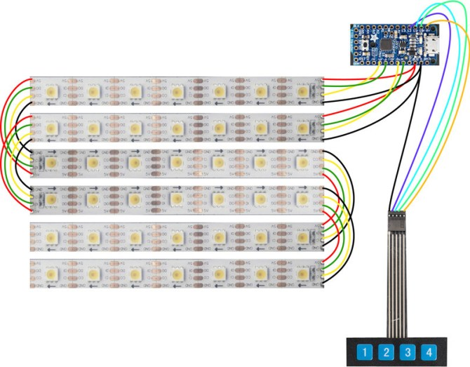 circuit diagram  rollup video light  adafruit learning system