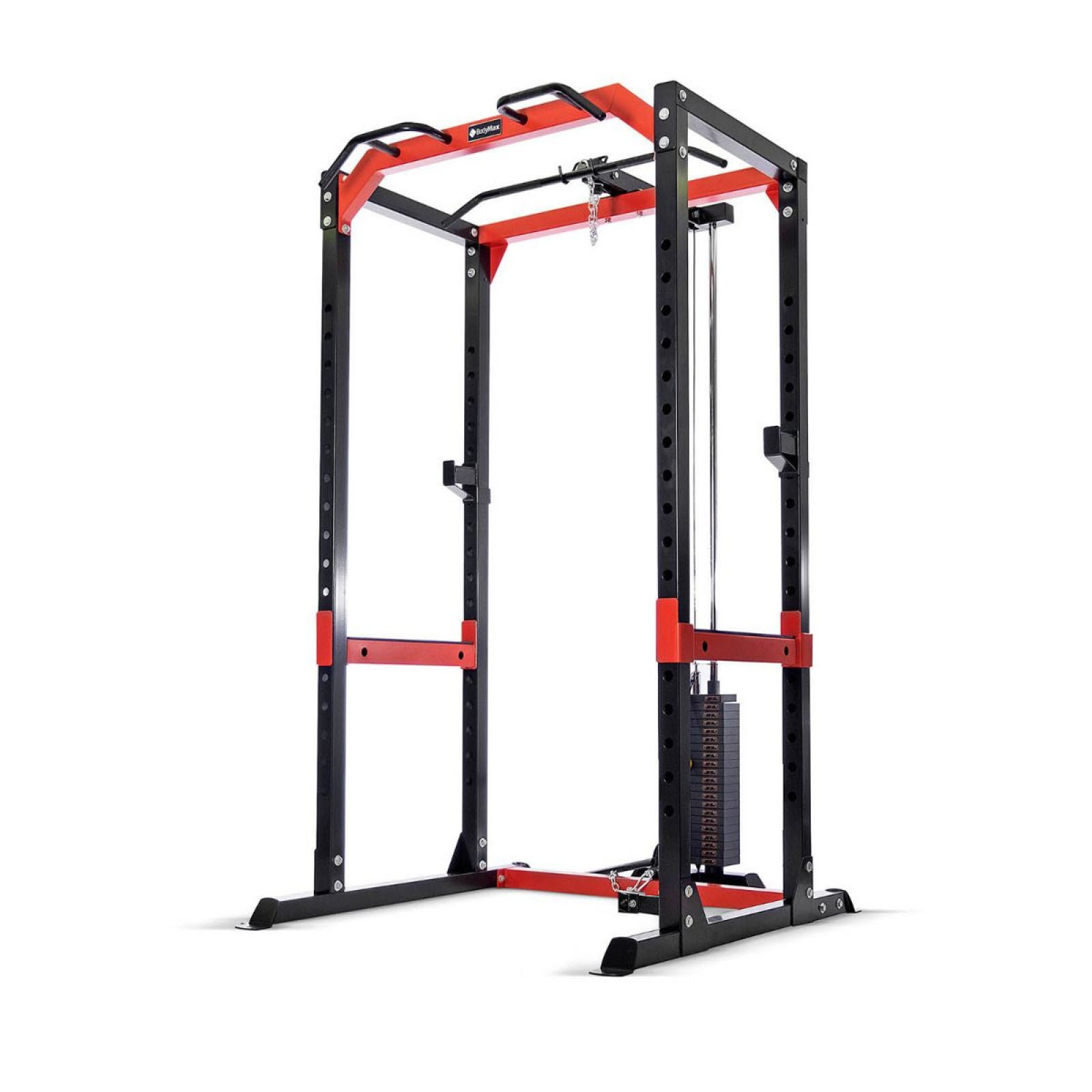 bodymax cf485 power rack with high low cable pulley attachment 95kg weight stack