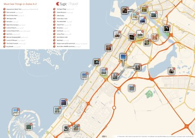 Map of Dubai Attractions | Sygic Travel