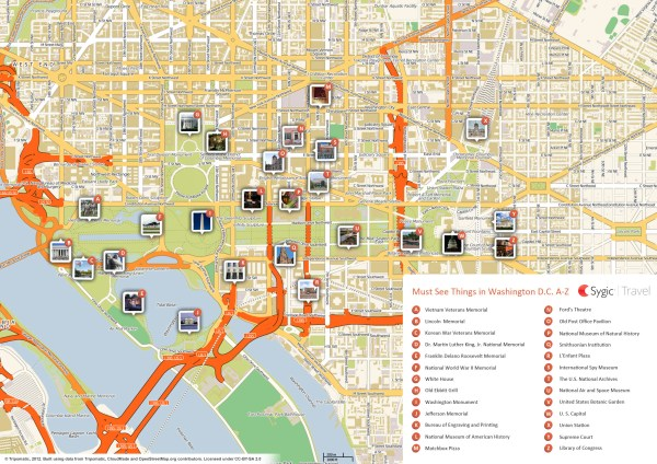 Map of Washington Attractions Sygic Travel
