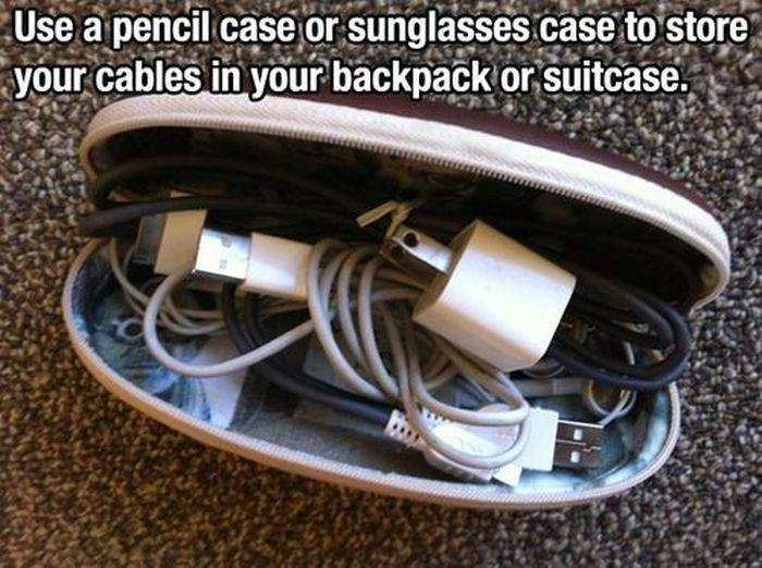 pencil case to store cables
