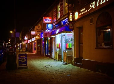 kebab house at night