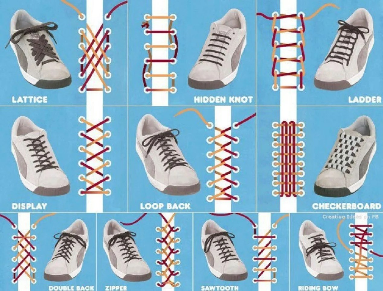10 Ways to Lace Up Your Shoes Creatively