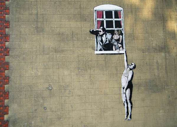 Life Lessons Banksy Street Art Leave