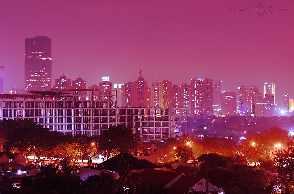 Jakarta Rooftopping At Night.