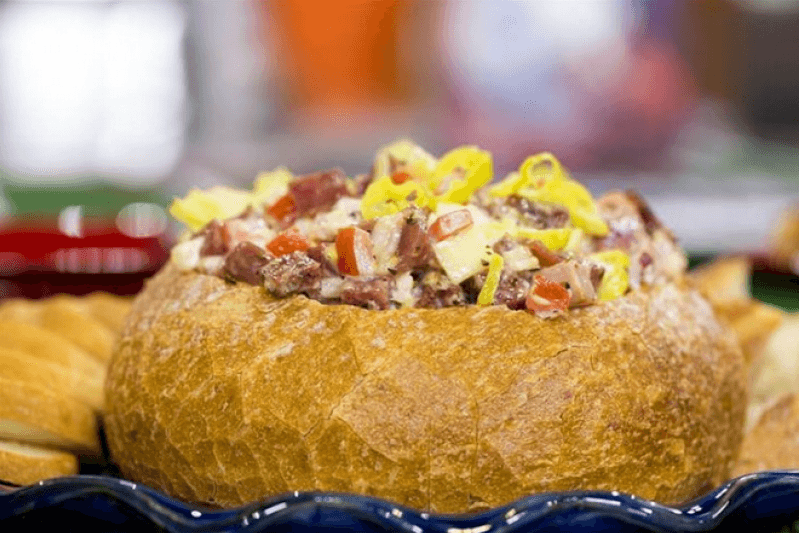 Bread bowl pizza dip