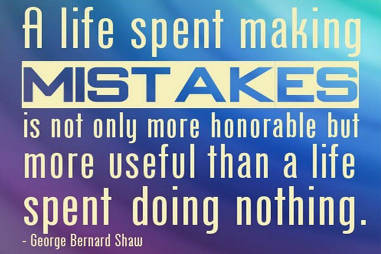 A life spent making mistakes