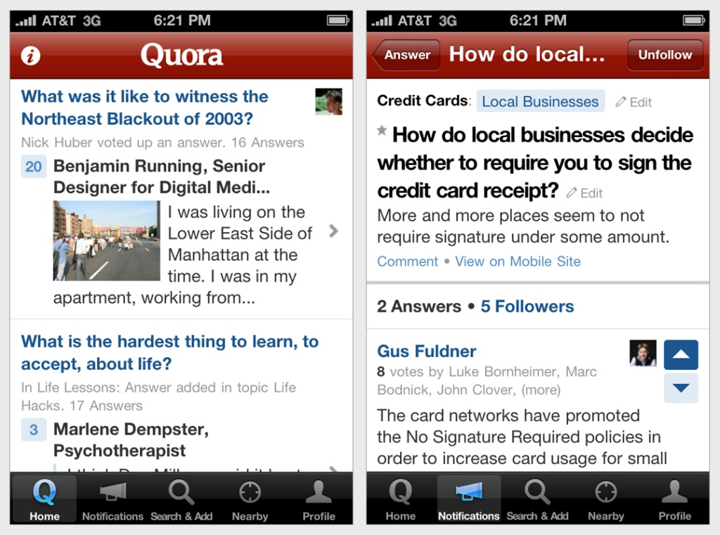 quora-home-and-notifications-iphone-screenshots