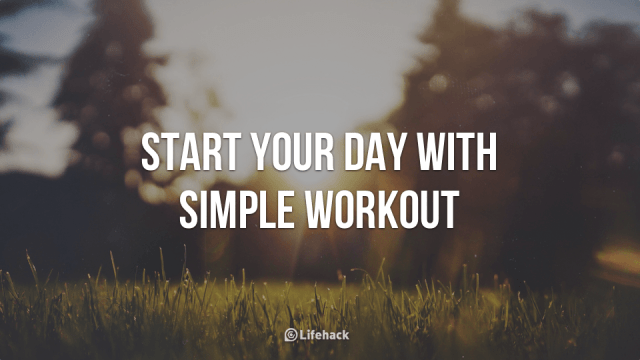 start your day with simple workout feature image