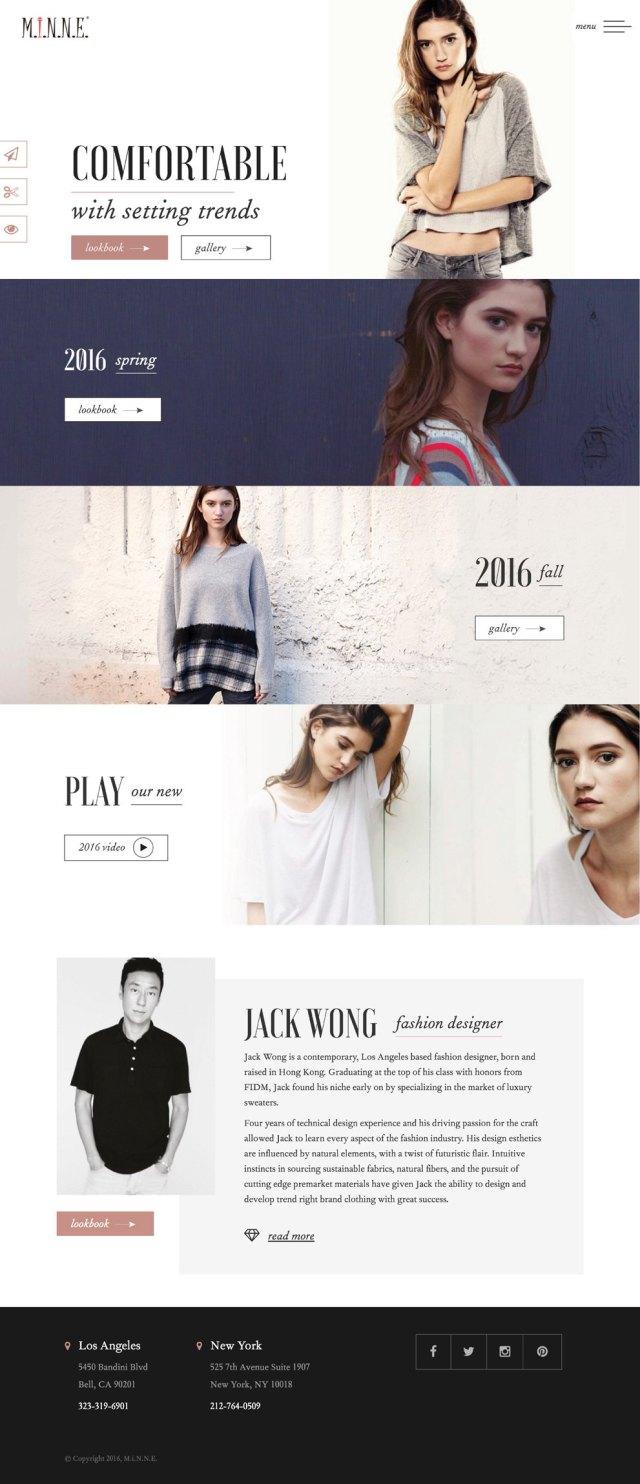 Minne Apparel Web Design - White Space