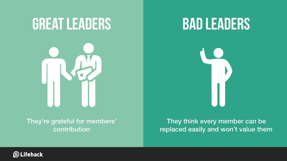 8 Big Differences Between Great Leaders And Bad Leaders