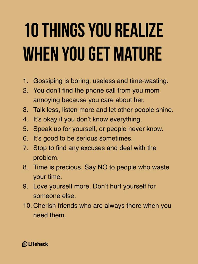 Quotes About Maturity Relationships