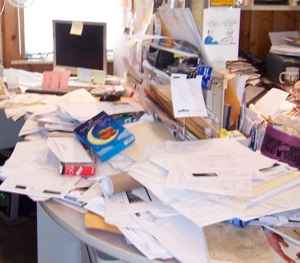 Buried Under Paperwork Office