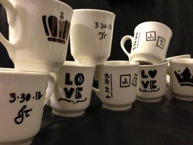 Sharpie Tea Cups