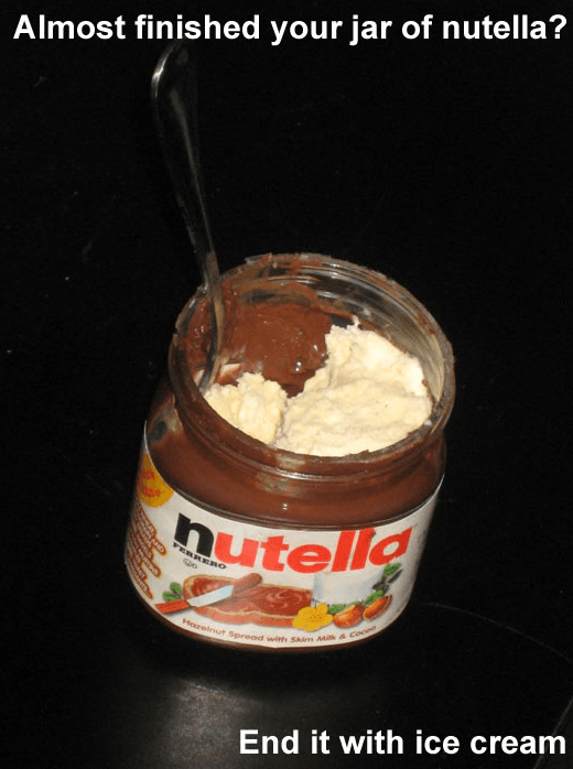 almost finished your jar of nutella
