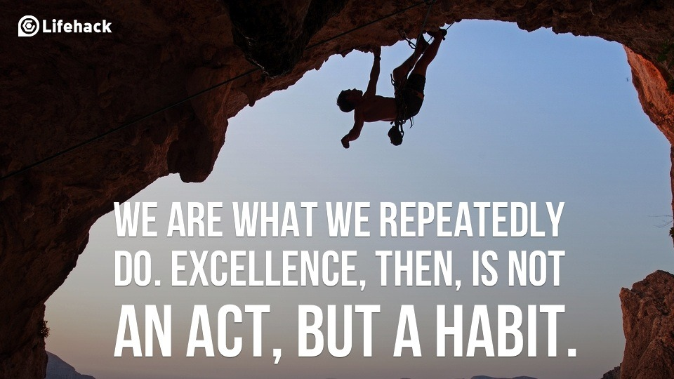 We are what we repeatedly do. Excellence, then, is not an act, but a habit.