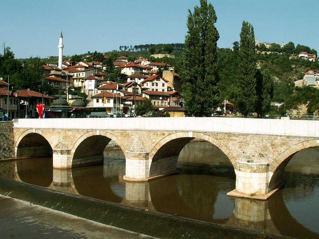 Sarajevo, Bosnia and Herzegovina - bridge over the Miljacka