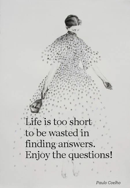 Life is too short to be wasted in finding answers....