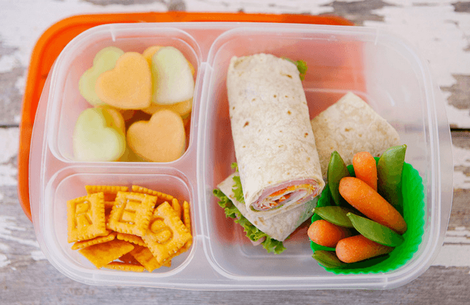 meatcheese and veggie wraps
