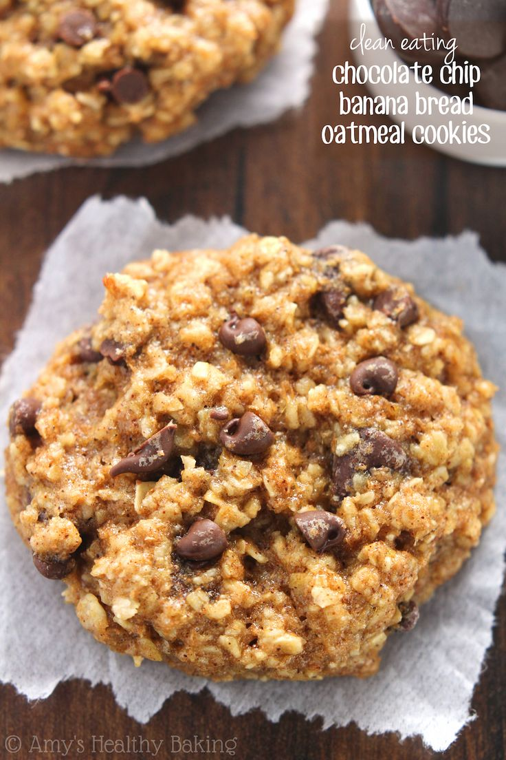choclate chip banana cookies