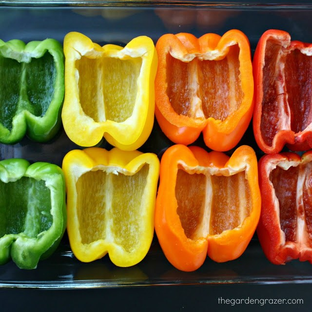 empty bell peppers