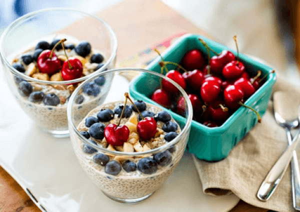 Cherry Berry Chia Seed Pudding