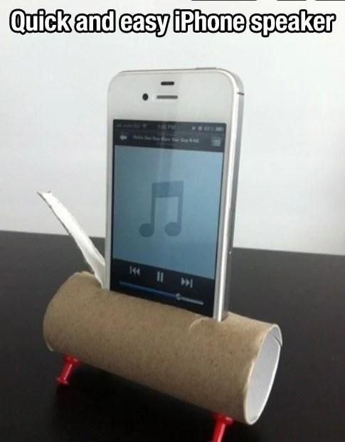 quick and easy iphone speaker