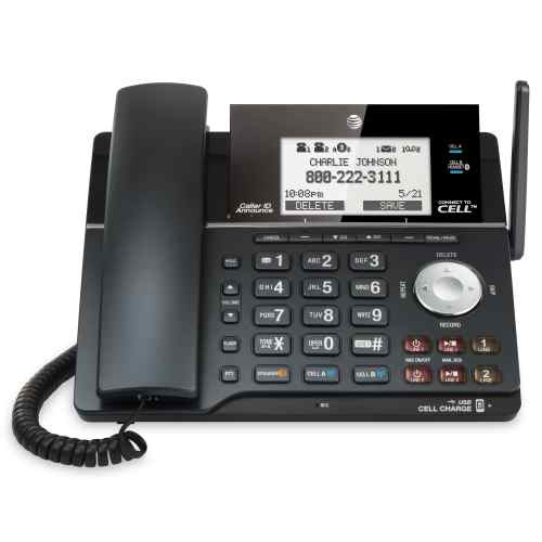 small resolution of 2 line connect to cell corded cordless phone system with caller id call waiting