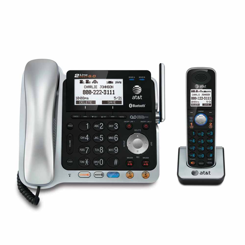 medium resolution of 2 line connect to cell corded cordless answering system with caller id call waiting