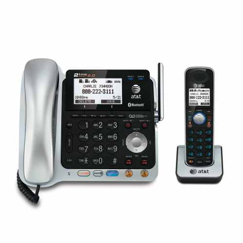 small resolution of 2 line connect to cell corded cordless answering system with caller id call waiting