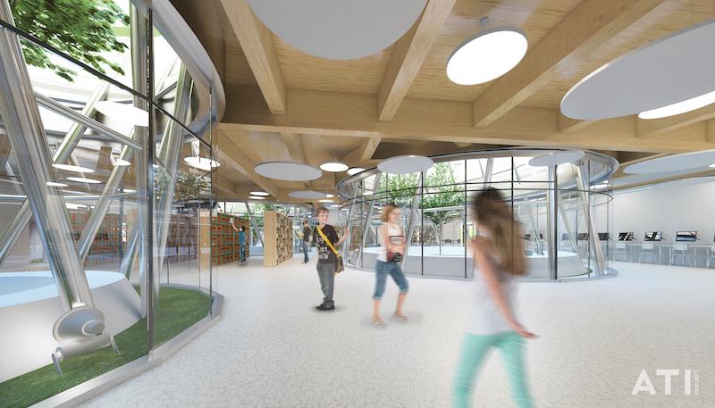 Scuola elementare via Brocchi, Milano - la biblioteca © ATIproject