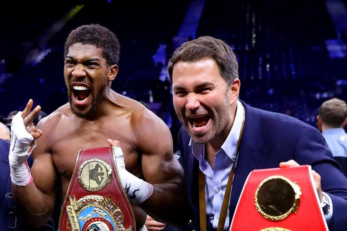 Anthony Joshua signs 'career-long' promotional deal with Matchroom Sport - The Athletic