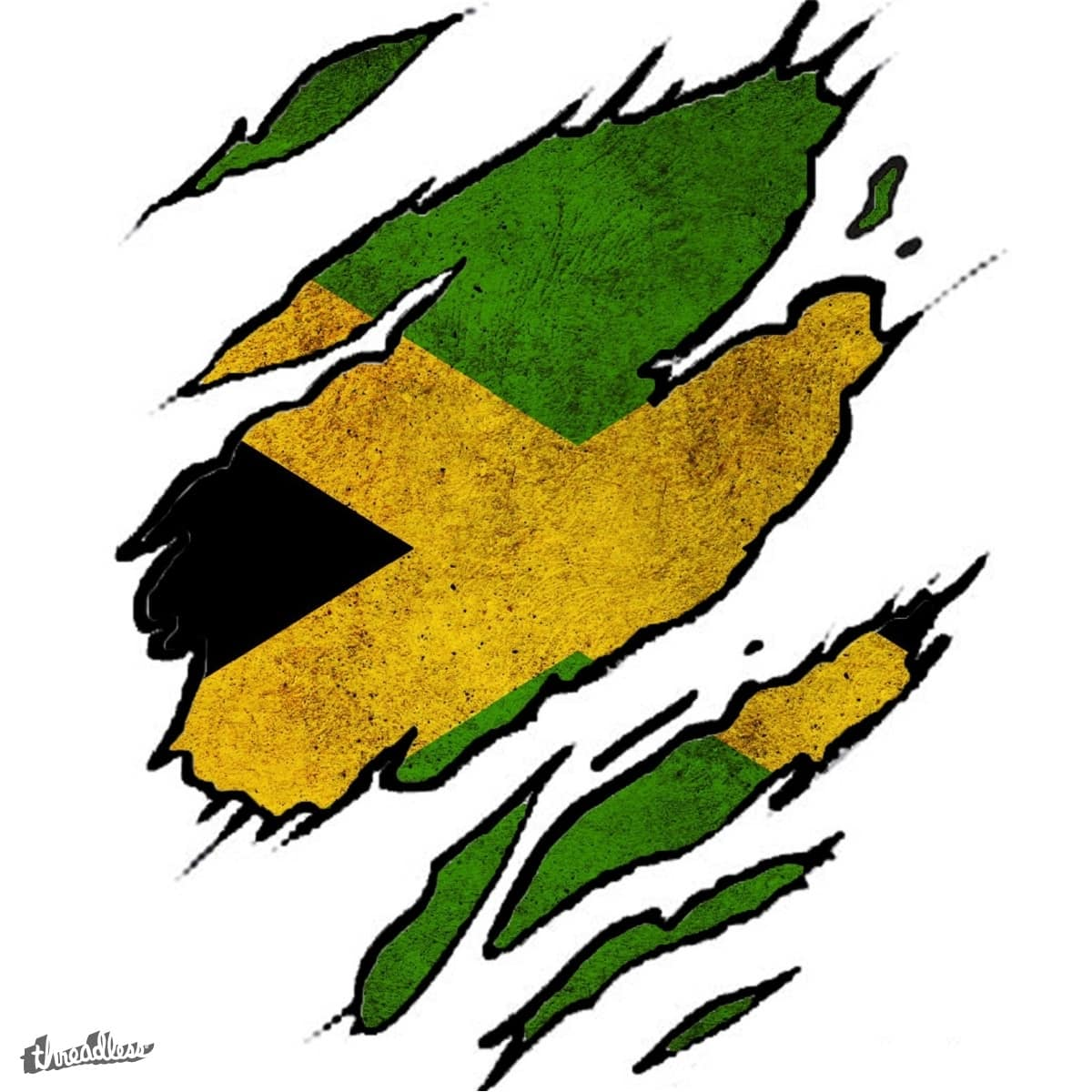 Score Ripped Jamaica Flag By Zarkop On Threadless